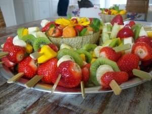 Früchte von Schokobrunnen - Schokofondue